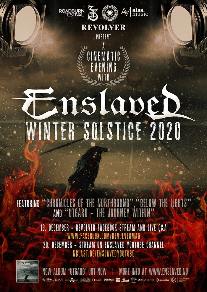 ENSLAVED TO STREAM WINTER SOLSTICE SHOW  @EnslavedBand  #enslaved #metal #progressivemetal #vikingmetal #blackmetal #norway #noruega #musicextreme #music #art #band #newmusic #SaturdayMorning #SaturdayMotivation RT