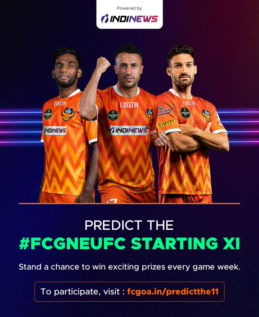 Test your prediction power and stand a chance to win FC Goa merchandise! 🙌🏻  To participate, visit  and predict the #FCGNEUFC starting XI 👉🏻  #RiseAgain