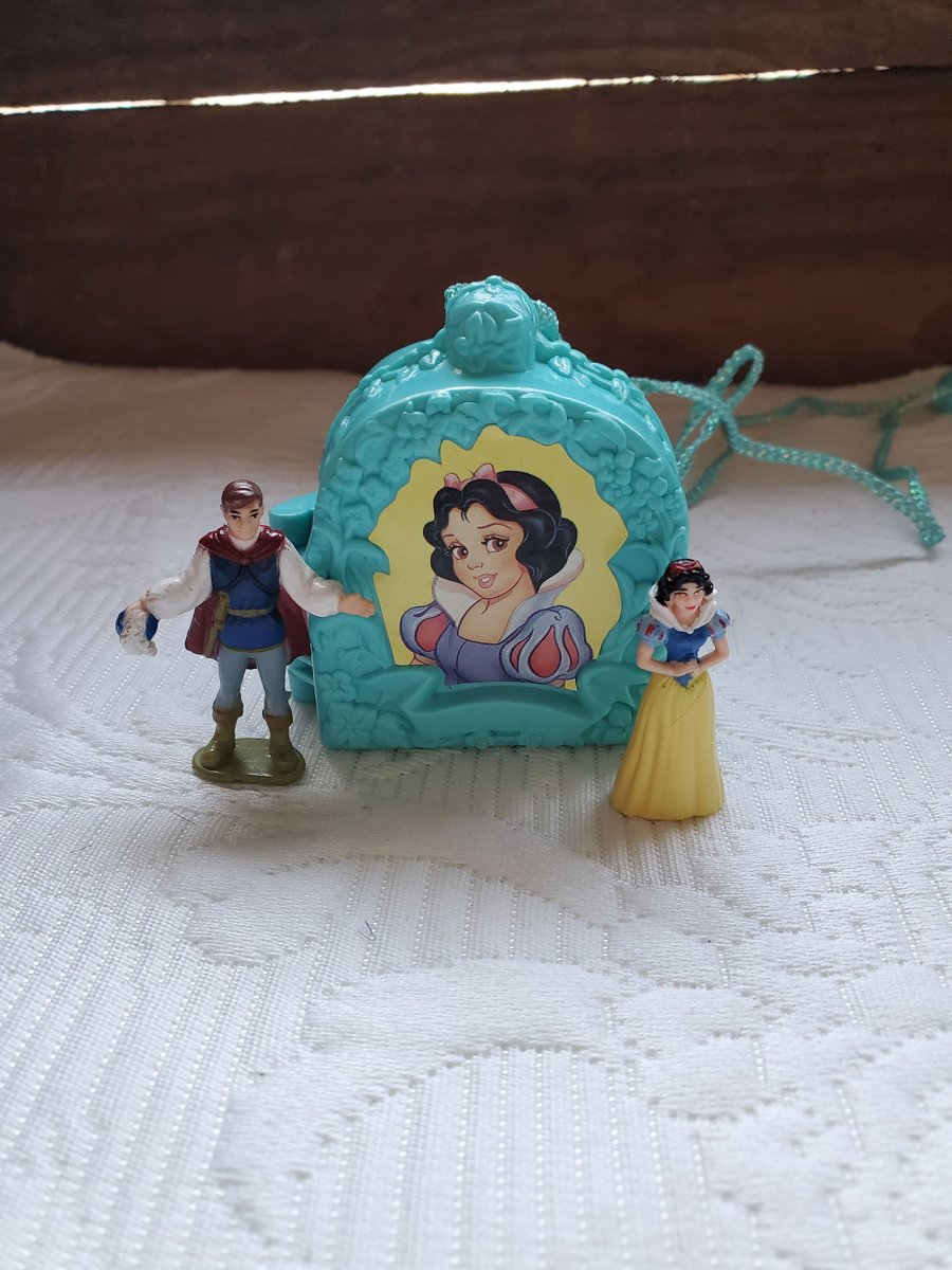 Excited to share the latest addition to my #etsy shop: Once upon a time,Snow White locket,Polly pocket vintage 1990s complete with figures,blue necklace  #blue #pollypocket #locketvintage #1990smadeby #bluebird #snowwhiteandthe #princefigures #mi