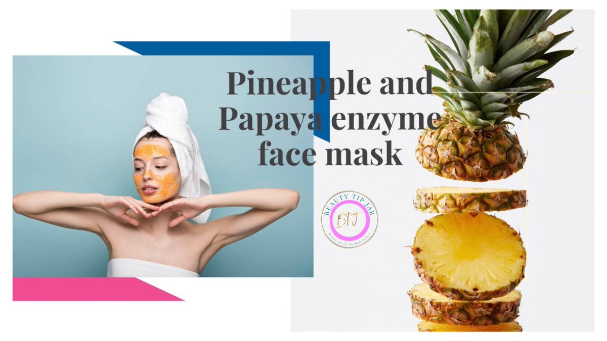 🍍#Pineapple and #Papaya enzyme #face mask is another option that can be made #naturally, #papaya and pineapple are full of nutrients, #vitamins and #minerals.  🔹When used together they create an #enzymatic compound that provides exceptional #benefits to the skin. https://t.co/hUw65elXWV