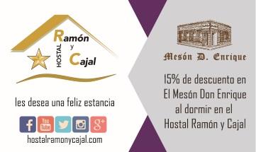 Si te alojas en nuestro #hostal @HRamonyCajalVA #sleep en #Valladolid #Spain tendrás un 15% #descuento exclusivo en #comidas y #cenas en el #meson #DonEnrique #offer #restaurant #food #gastronomy  #TuHostalDesde1978