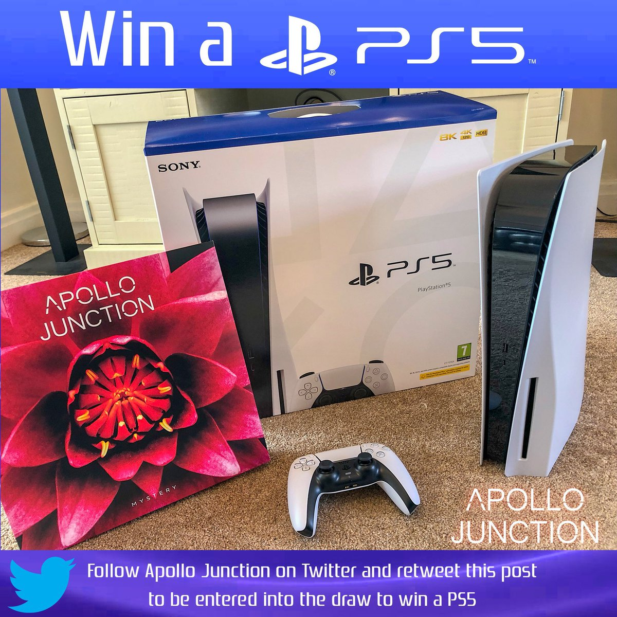 Have you entered to win a #ps5uk #giveaway #WINNER #win a #PlayStation5 ???  + a signed copy of our debut album on vinyl record.  #enter now. Just follow & RT Winner announced this week.  Keep sharing our music too 🎵