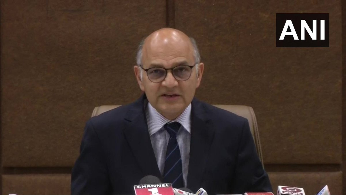 The voting percentage in Jammu division is 64.2% and in Kashmir division, it is 40.65%: KK Sharma, State Election Commissioner  (ANI)