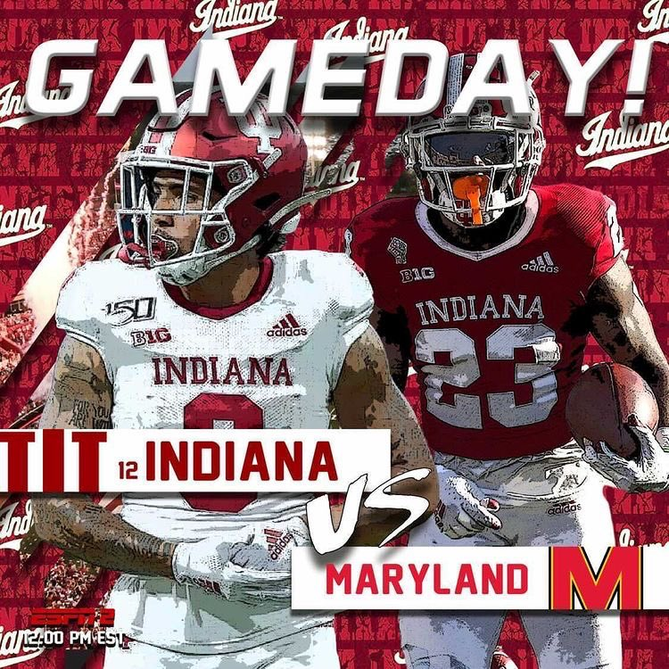 GAMEDAY!!!!!!!!!! #IUFB #LEO The No. 12 Indiana Hoosiers face off against the Maryland Terrapins today! Indiana looks to get a bounce back win and improve to 5-1 on the year!  Go IU!!!!