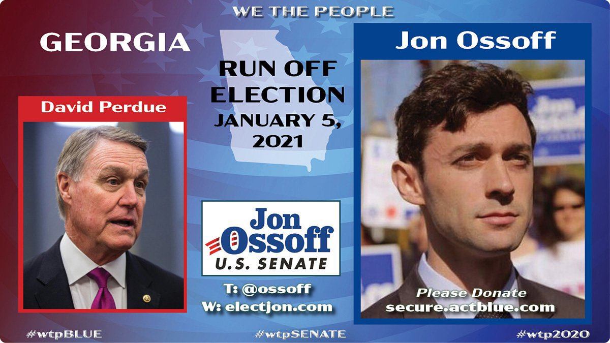 The contrast between these two candidates continues to grow.   Georgia deserves better.  Our country deserves better.   #wtpBLUE #ONEV1 #FAM46
