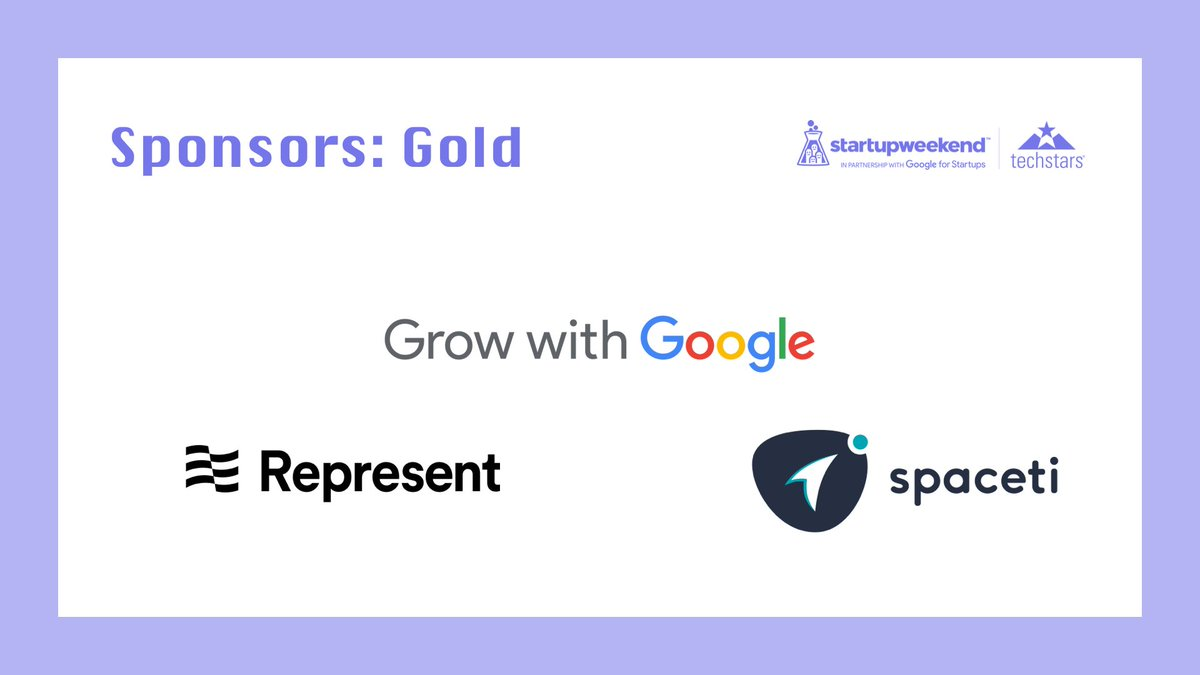 🥇Thank you to our gold sponsors🥇 Thank you @Represent, @spaceticom and #GrowWithGoogle for helping #SWCzechia happen!