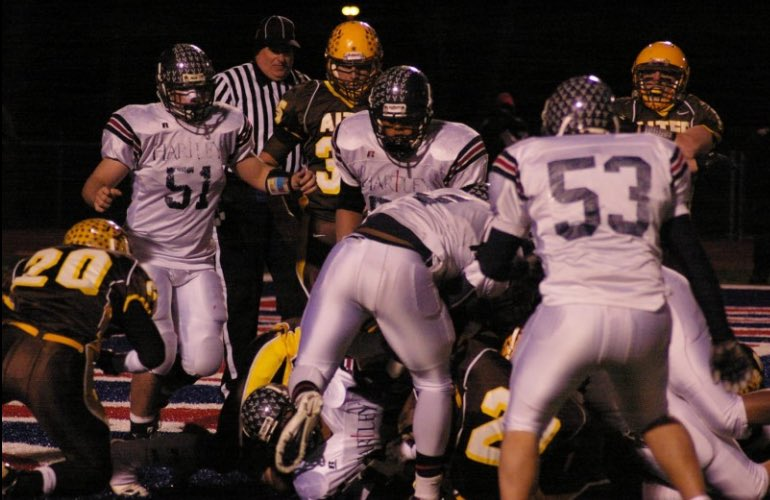 #FlashbackFriday 10 Glorious Years Ago...state semi finals. Hawks vs Alter. Down 28-21 with 2 minutes to go, Hawks drive the length of the field, score and go for 2!  Hawks Win 29-28 and on to the state final!  What a Game! #ForeverStrong