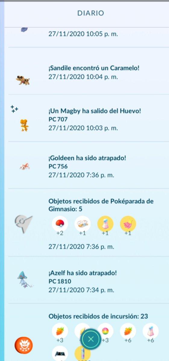 Al final el community day de magmar me sonrió con este huevo rezagado que tenía 😅 #PokemonGoCommunityDay  #PokemonGo @PokemonGoApp https://t.co/oNX7qmXo5i