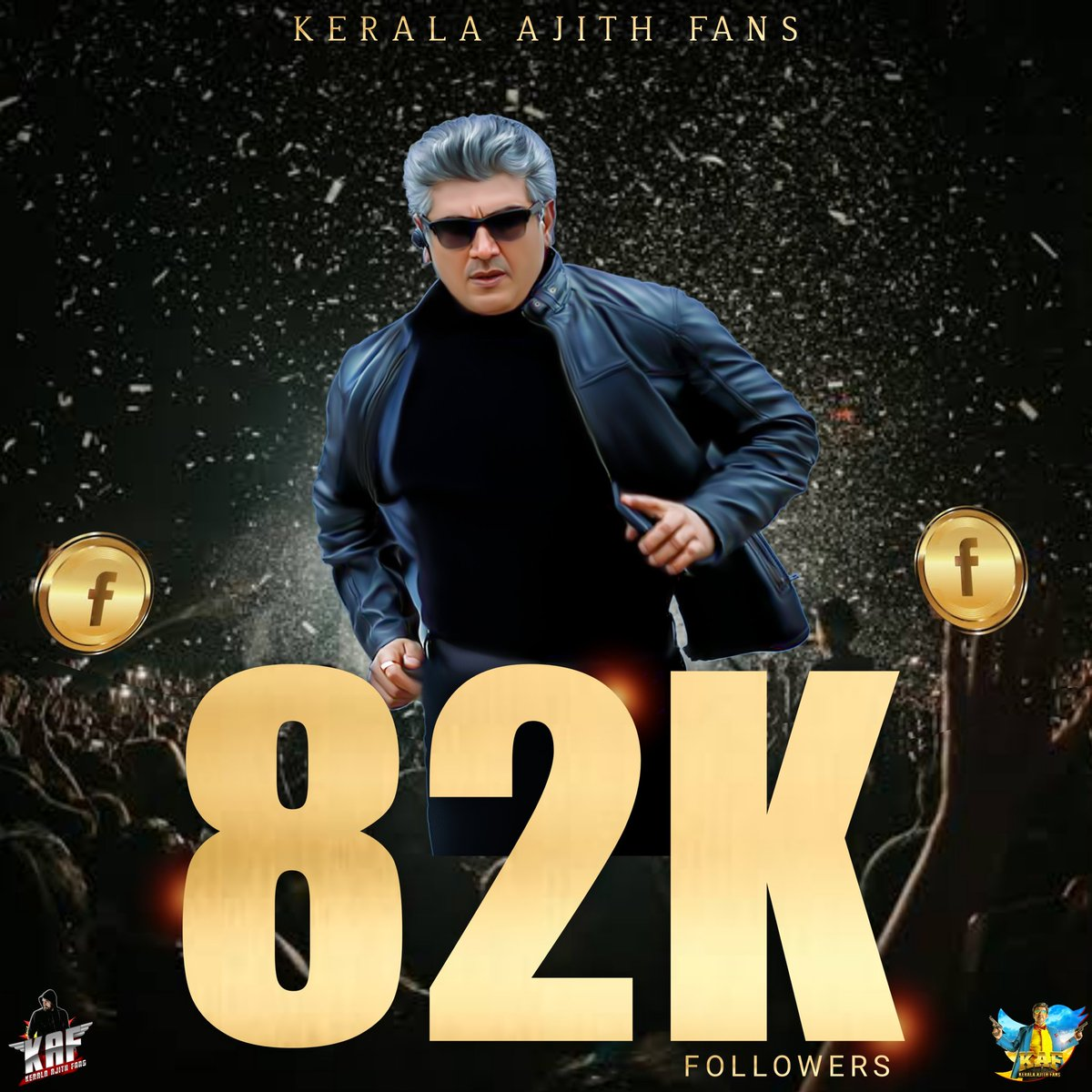 Successfully our Kerala Ajith Fans State Committee Facebook Page reached 82K Followers Today 🎉💥  Thanks for the Support and Keep Supporting us the same way that u guys done before  Thank You Everyone 🙏🏻🙏🏻  #150DToTHALABDayCarnival #Valimai