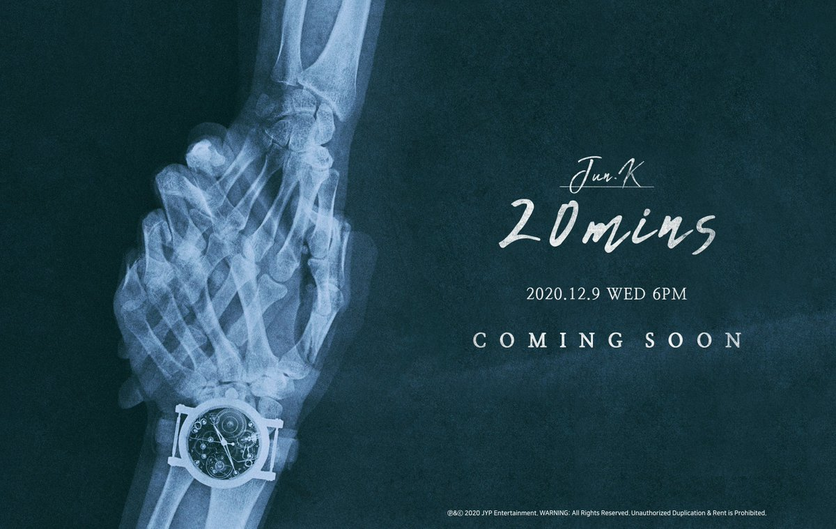 JUN. K (준케이)  3rd MINI ALBUM  <20분>   2020.12.9 WED 6PM   COMING SOON  #2PM #투피엠 #JUN_K #준케이 #20분 #20minutes