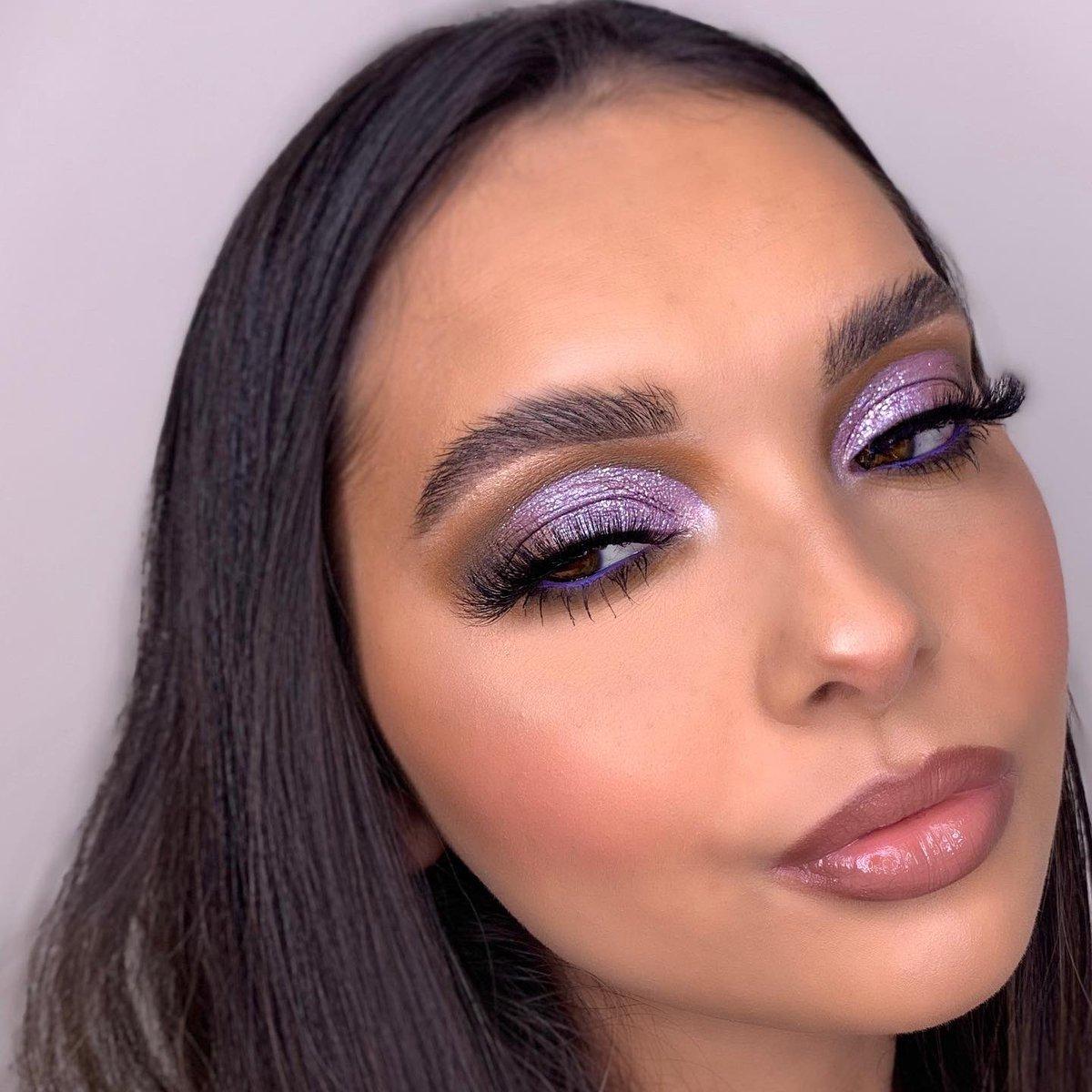 💜LAVENDER💜 using @beautybay x @NikkieTutorials Pressed Pigment Palette! #beautybay #nikkitutorials #makeup #MakeupAddict #makeuplooks
