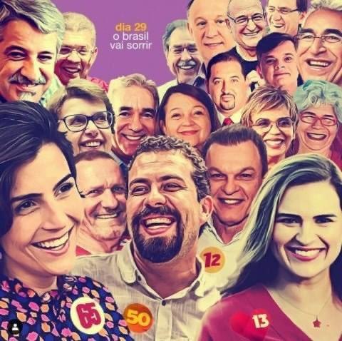 Candidatos de esquerda na luta contra o fascismo neste domingo