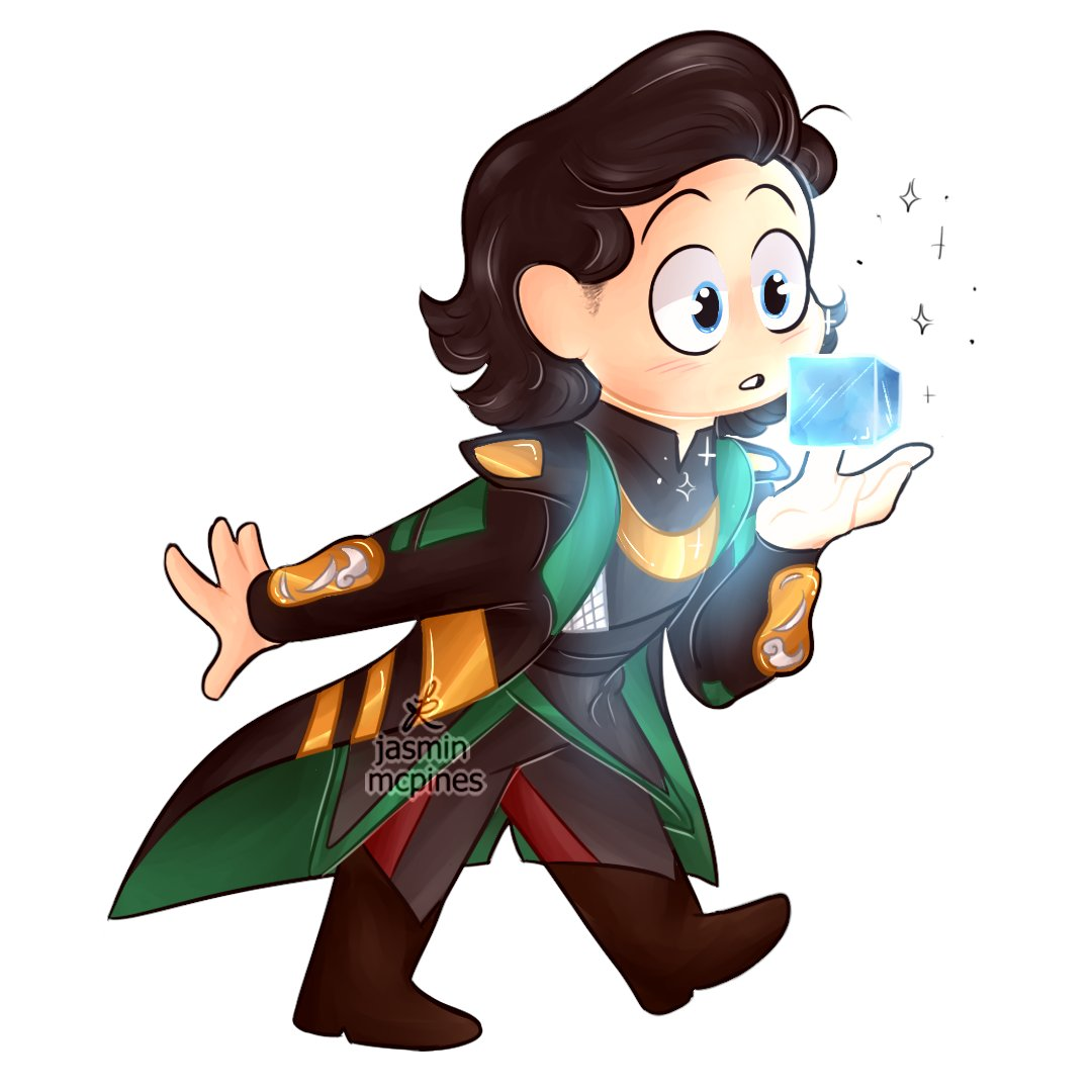 I found this 2 year old piece of Loki with the Tesseract in my files...I guess I just forgot to post it, so have this old thing until I'm done with the drawings I'm working on rn :') Also got a speedpaint on my channel! #Avengers  #Marvel #Loki #thor (Please don't repost!)