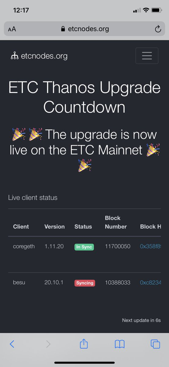 Oh and by the way, congrats to Thanos #ETCLand!! The future has never been more bright for $ETC!
