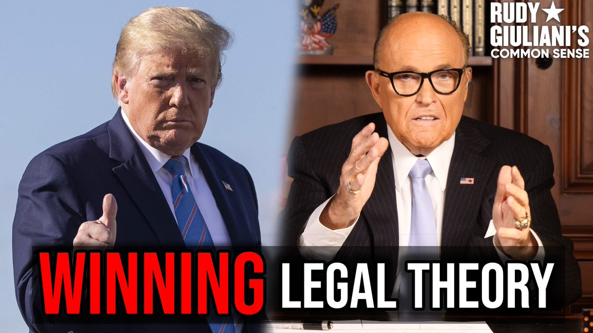 The WINNING Legal Theory Rudy Giuliani's breaks it down here: youtu.be/flnuwTJAiWE
