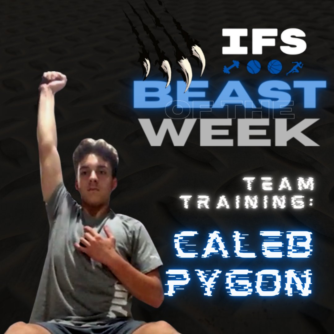 #BeastoftheWeek this week goes to Caleb Pygon! One of the most committed athletes in the team training branch. Extremely hard worker, asks for extra, & didn't miss a beat when zoom sessions started! #teamIFS #strength #conditioning #baseball #hamburgny https://t.co/28bdYaa9mv