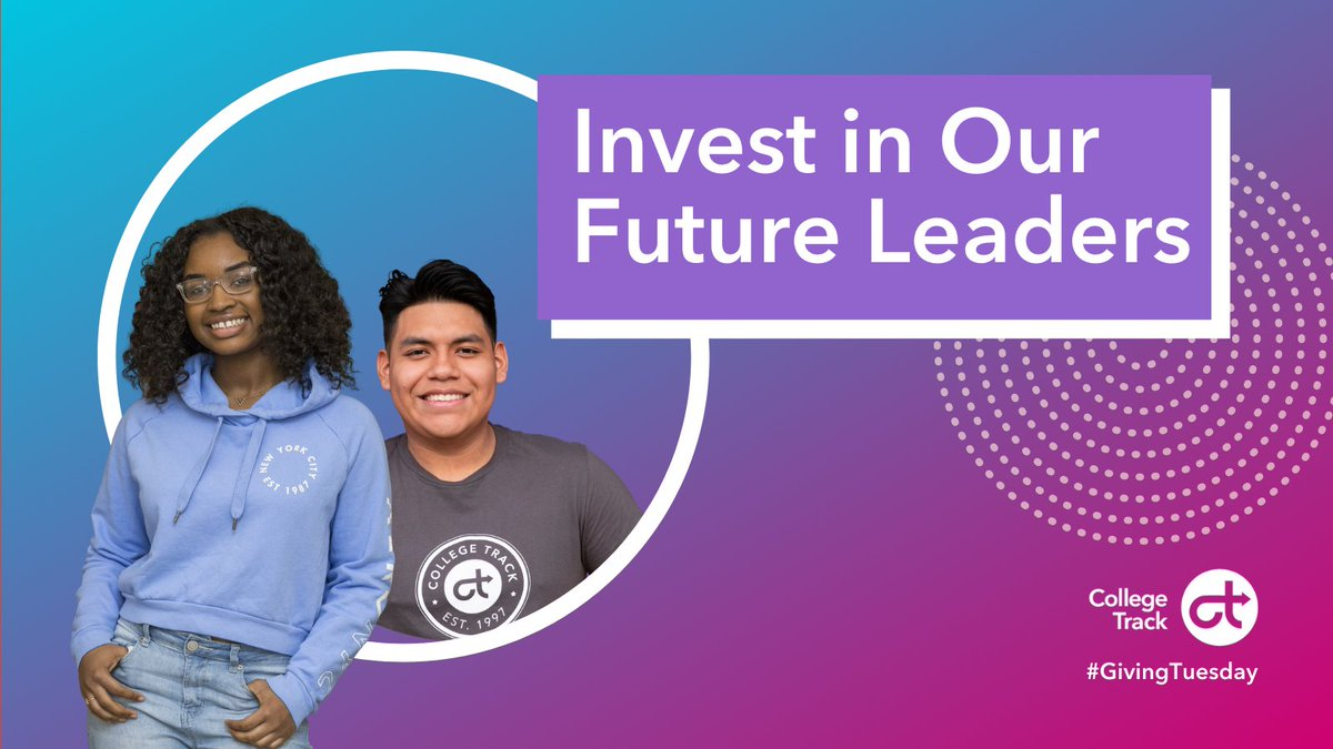 Invest in our future leaders this #GivingTuesday! With your help, we can continue our movement to make opportunity and choice a reality for ALL students.  Your donation enables our students to connect their passions and talents.