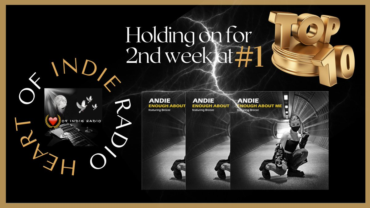 YES, FOLKS_ Lightning has struck again for ANDIE @OfficialAndie_ as her #NewMusic Enough About Me has held on to the #1 slot on our #Top10 for the 2nd week. Congrats Andie, we are excited & so very proud of you. Keep shaking things up! #indiemusic #Indieartists  @Heartofindie ♥️ https://t.co/LwTSuO0Stz