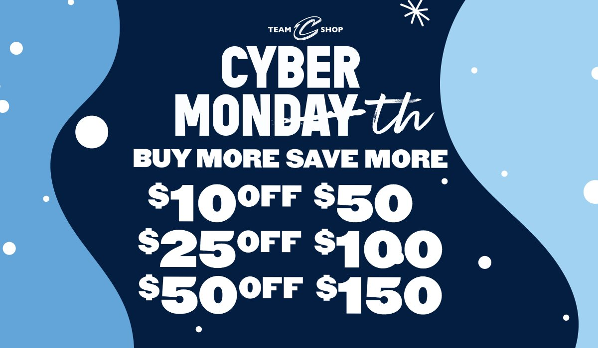 We're continuing #CyberWeek with a new deal!   Save up to $50 off your order with this weekend's Buy More Save More deal!   Shop Doorbusters, Jerseys, Hoodies & gifts for the whole family at https://t.co/wIkXPGaLob. 🎁  #CyberMonth | #CavsStyle https://t.co/lGutnPOpTm