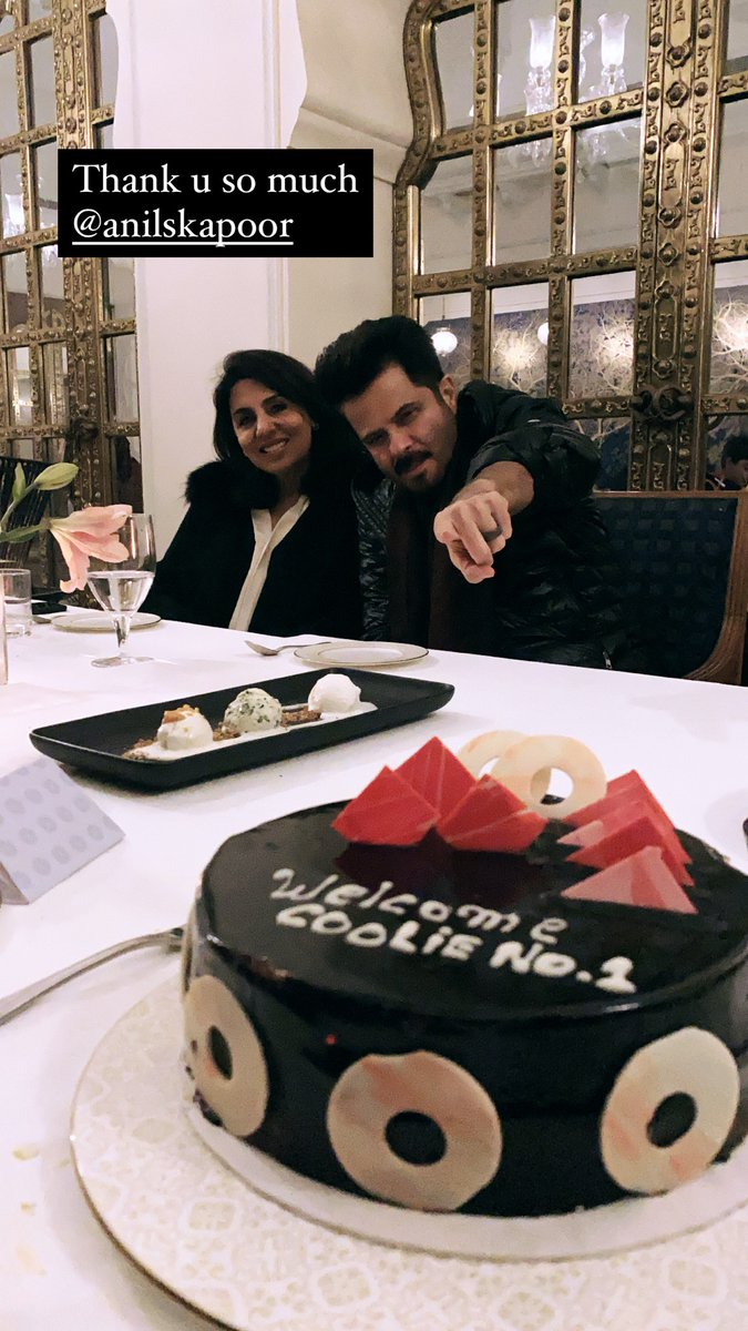 Sweetest way to end the day thank u guys @AnilKapoor