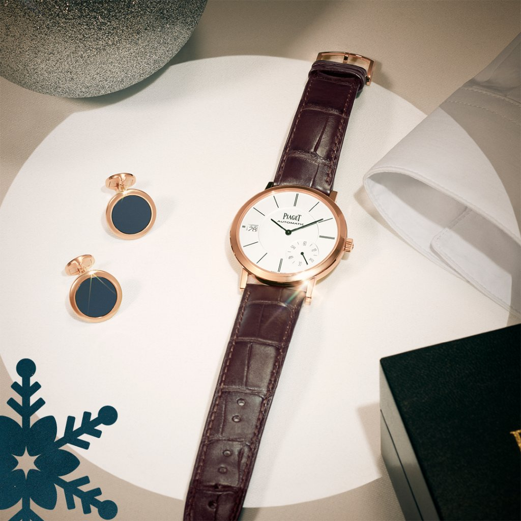 Party look 𝒔𝒐𝒓𝒕𝒆𝒅 thanks to the vintage-inspired #PiagetAltiplano watch and 𝒄𝒖𝒇𝒇𝒍𝒊𝒏𝒌𝒔. Discover more: https://t.co/PpCT8LXUPl #Piaget #PiagetHoliday #ExtraordinaryHoliday #gifts #menswatch #luxurywatches #giftsformen #PiagetWatches #watchesformen #watchoftheday https://t.co/vqmBPf2c5w
