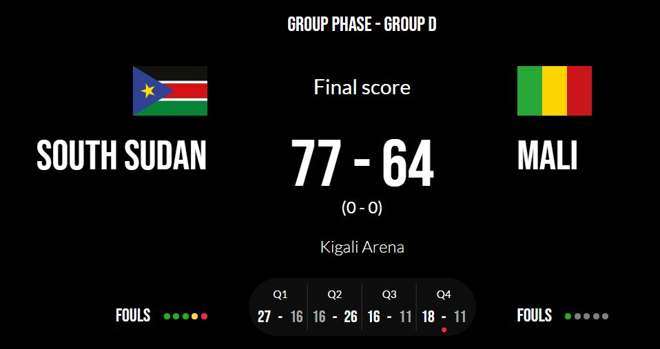 #SSOT #southsudan #Afrobasket2021 #AfroBasket2021Q #AfrobasketQualifiers One down one to go was clinical with little flairs need to work on the turnovers & rebounds,& the boys can make it through to round two, proud day for SouthSudan the boys did us proud https://t.co/FSUCyoW1kh