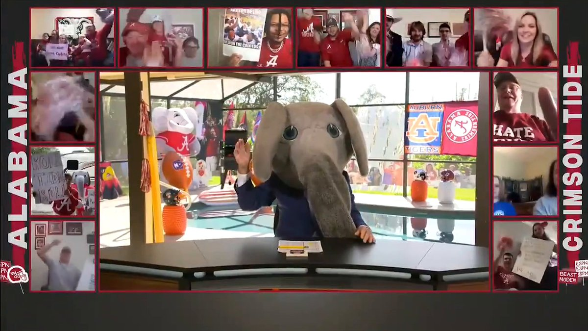 BIG ALS BACK 🐘 Corso picks the Tide in the Iron Bowl! (📍 @CoorsLight)