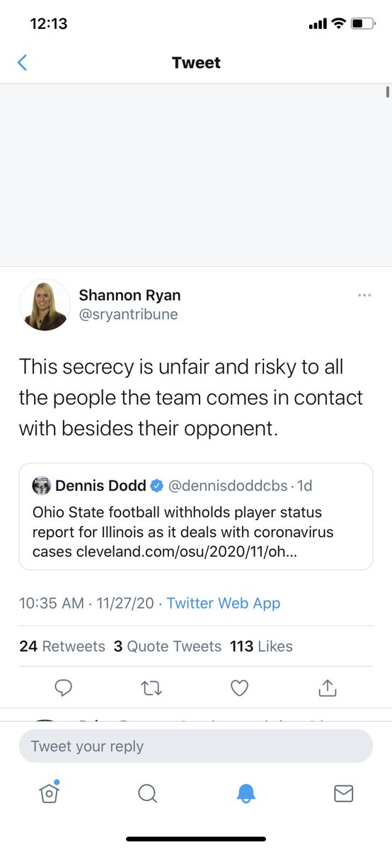 Good take from Pete. Lest we forget this scorching hot take from Shannon Ryan a few days ago. It's about getting it right...not giving whiny media members info that's none of their business at the time. #ohiostatefootball #Big10 https://t.co/ec0zSufsvd https://t.co/qBuQIRqWZZ