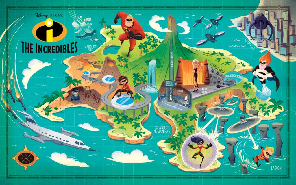"Explore Nomanisan Island and more in ""Disney Maps"" from @DisneyBooks:"
