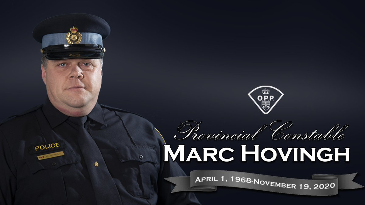Tweet from CTV News (@CTVNews) CTV News (@CTVNews) Tweeted: WATCH LIVE: A funeral is being held for OPP Const. Marc Hovingh, who was killed in the line of duty last week on Manitoulin Island: https://t.co/qNZj2ffxSi https://t.co/AIjlrx0Ea1 https://t.co/CXVqg3VmGe