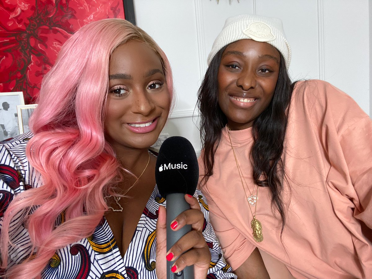 Got to interview my big sister @shesTolani for the FIRST TIME during my @AppleMusic Thanksgiving Takeover! Have you heard AMAZING music? 🎵💕 #FamilyFirst