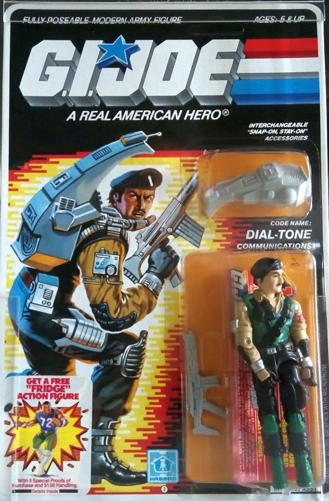 Communications. Code Name: DIAL-TONE. First appeared on toy store shelves in 1986.