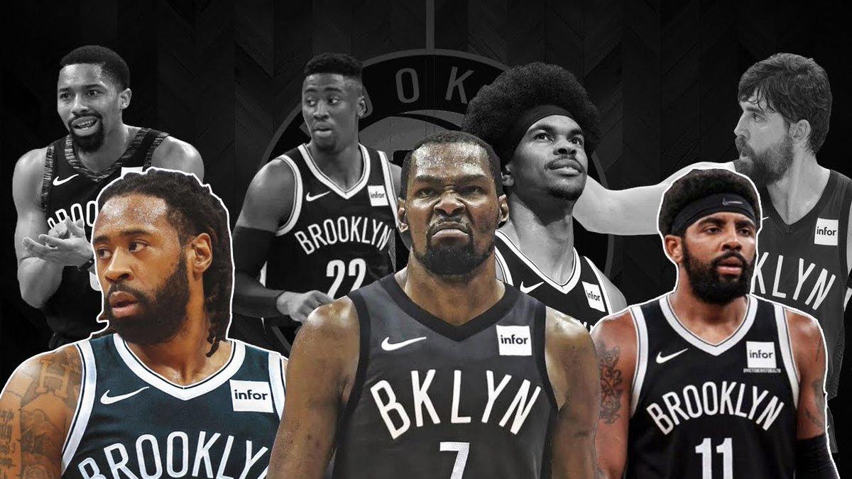Brooklyn Nets'in güncel kadrosu 👀  PG: Kyrie Irving, S. Dinwiddie, B. Brown  SG: Caris LeVert, Landry Shamet, T. Johnson  SF: Joe Harris, T. Luwawu  PF: Kevin Durant, T. Prince, J. Green, R. Kurucs  C: DeAndre Jordan, J. Allen, N. Claxton  Sizce nereye kadar gidebilecekler? https://t.co/8qkkzkheEO