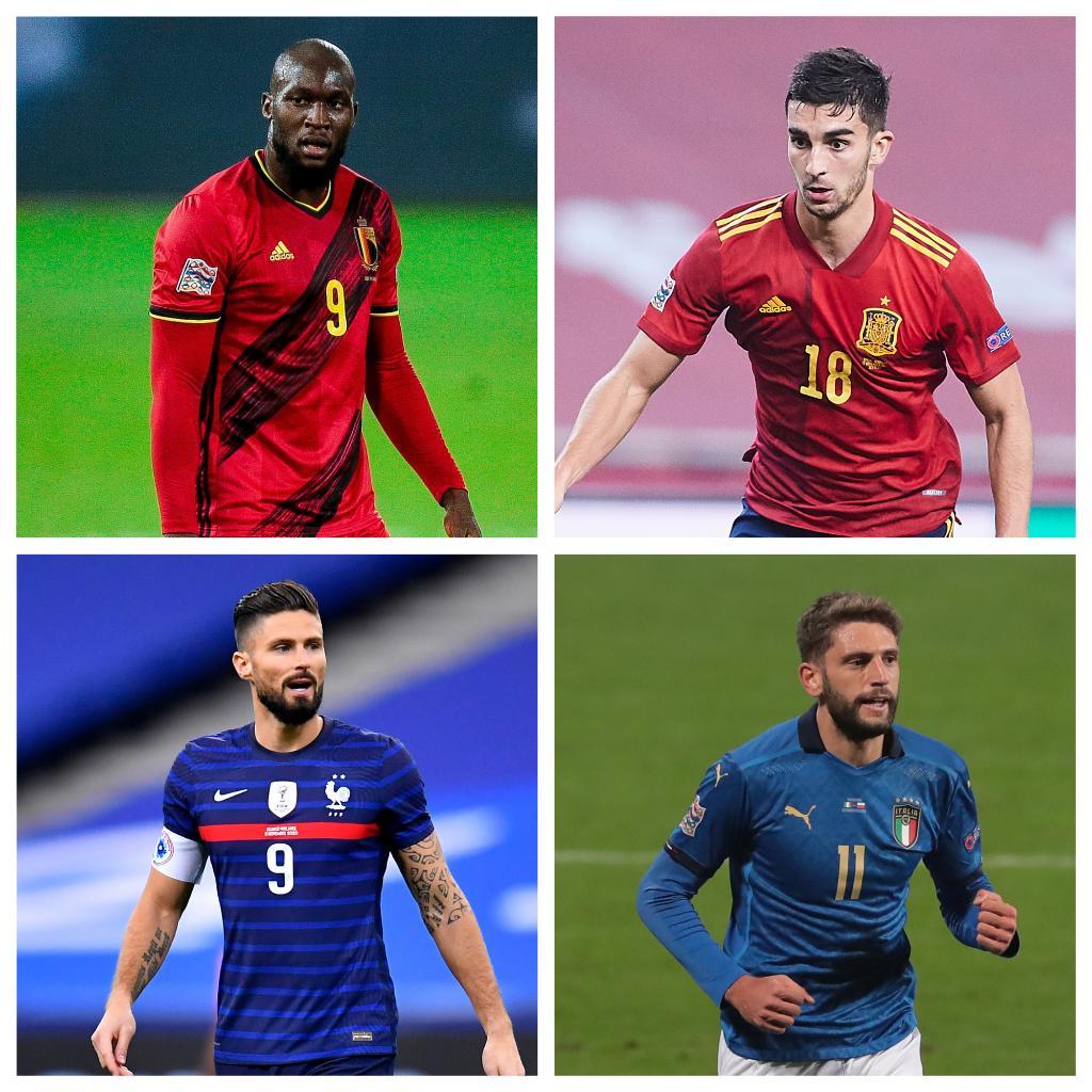 ⚽ Goleadores dos finalistas da #NationsLeague ⚽  🇧🇪 Lukaku  🇪🇸 Ferrán Torres  🇫🇷 Giroud  🇮🇹 Berardi   Qual vai ser decisivo?