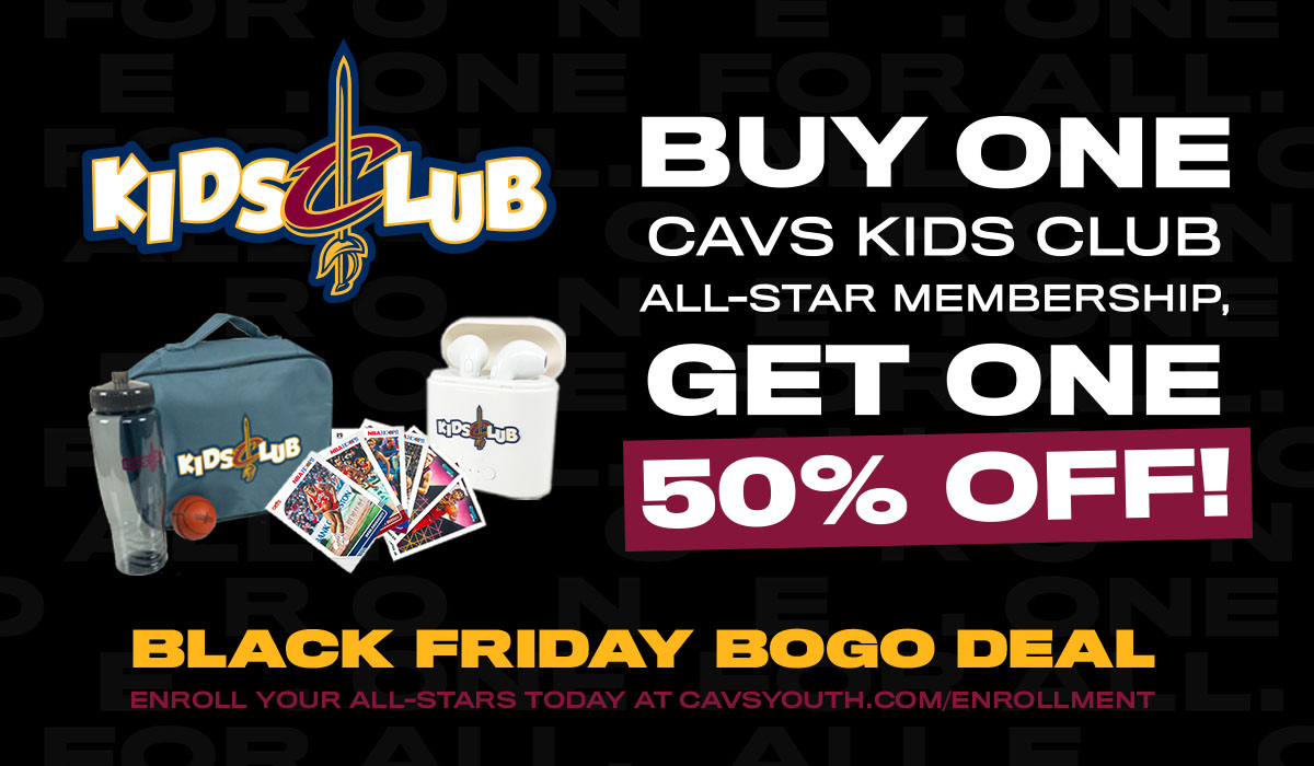 This #CavsKidsClub BOGO Deal is available all weekend long! If you're looking for the perfect holiday gift for your young fans, go to https://t.co/6EYZN8GvIr, TODAY! https://t.co/JX8VzqcinC
