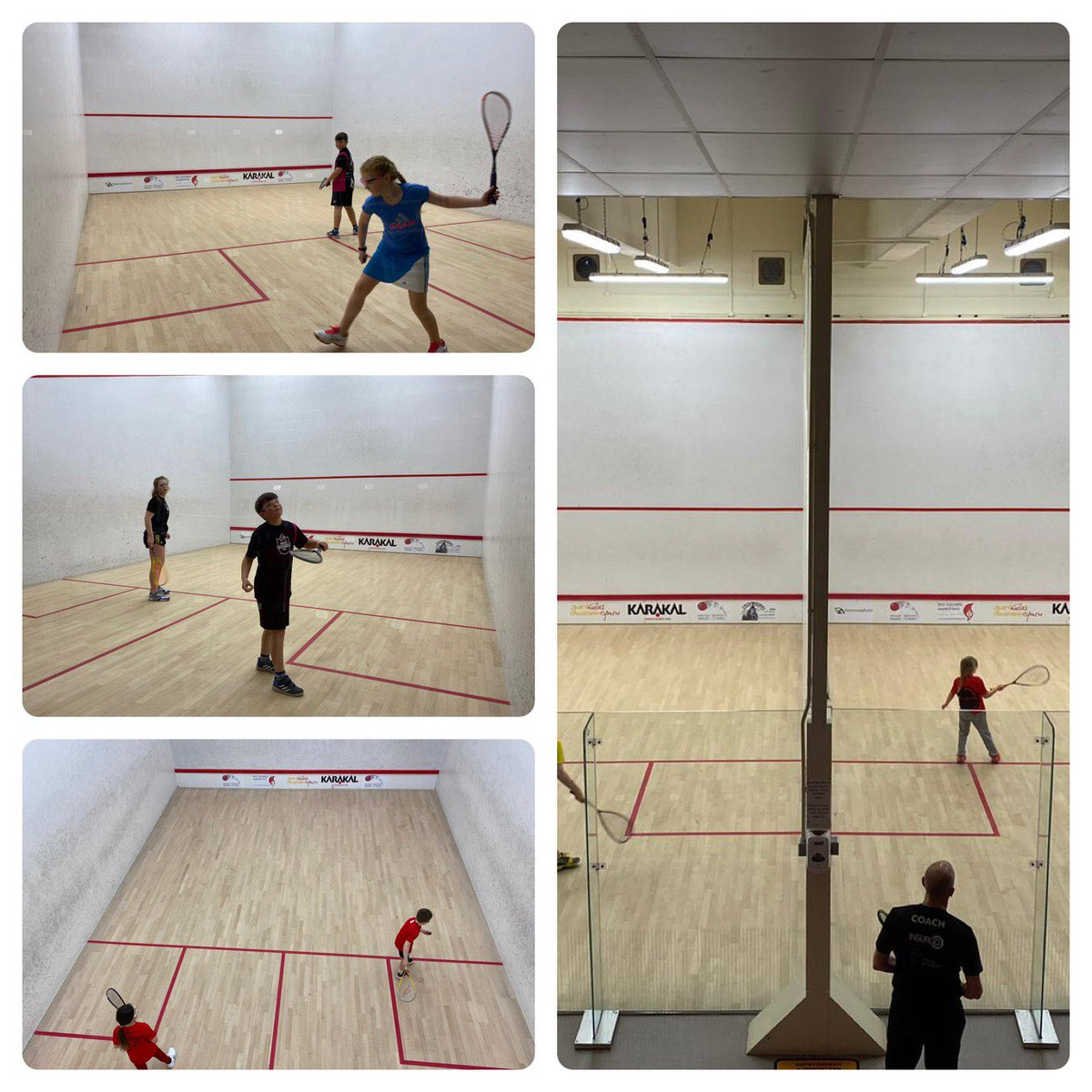 2nd Futures session & a new bunch of players positive feedback from coaches @SallyEllenDavis @MerthyrSquash.Trialed a new Q&A for the players to gauge engagement & answers all correct which is first class. @sqwales has some talent coming through.#positive https://t.co/UkY4vMtxPb