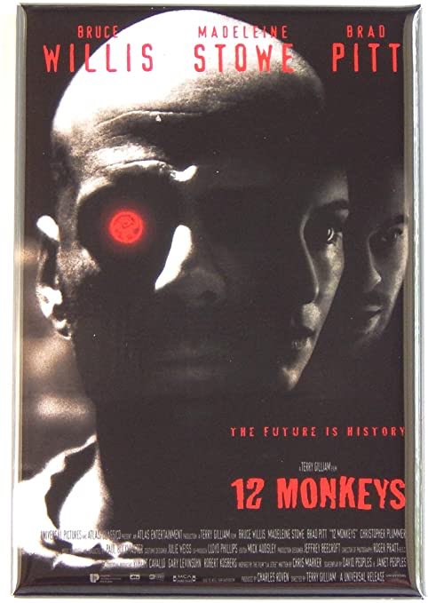 ☢️#21. 12 Monkeys, 1995. A haunting time-kerfuffle narrative  imparts visions of a #postapocalyptic world reclaimed by nature while mankind has retreated into a subterranean #steampunk nightmare. Thrilling performances. Influential score. Mind bending. #watch #12monkeys. 5/5 ☢️
