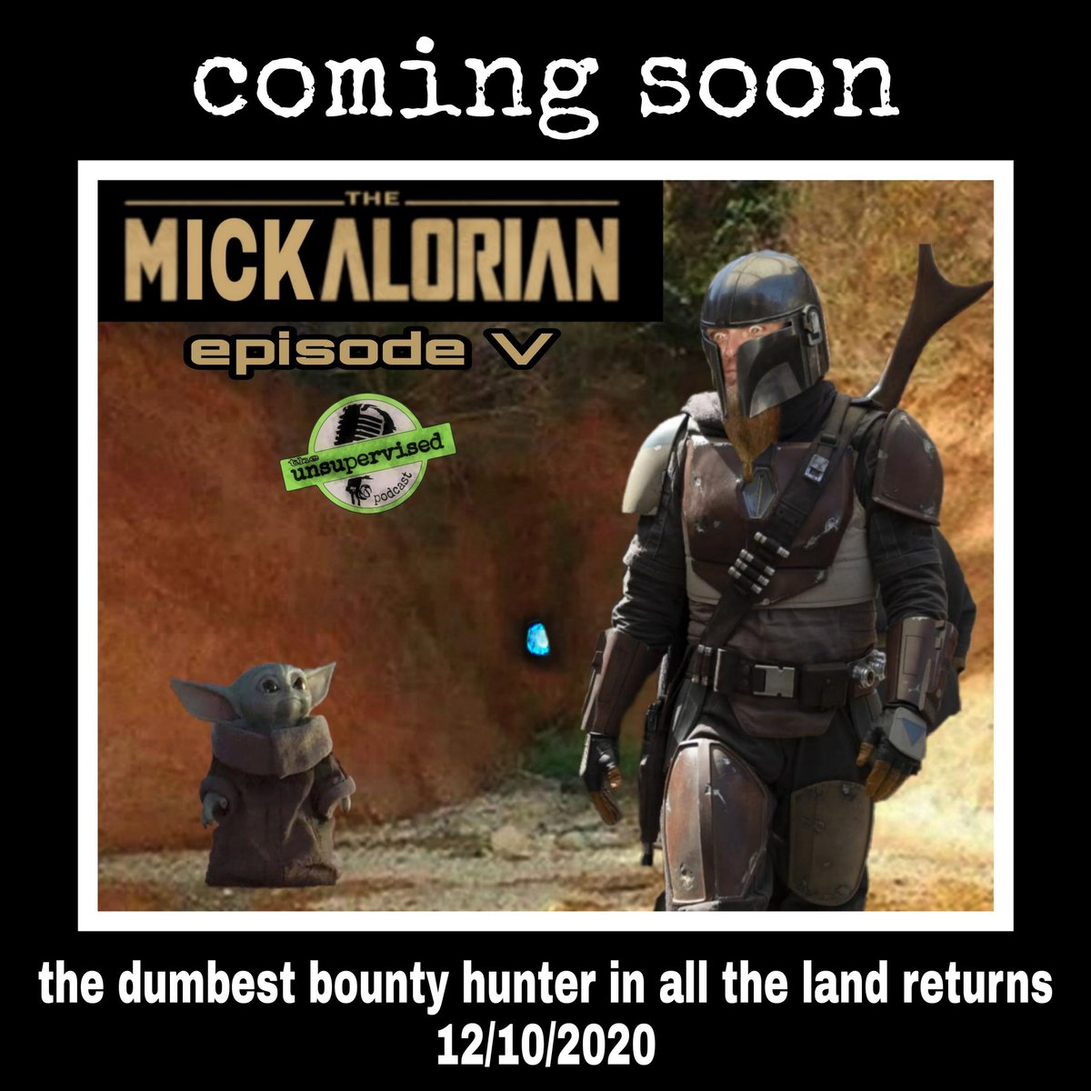 Mickdo & Baby Yoda return next month for a mini series like no other...  #BabyYoda #parody #comedy #podcast #podcasts #podcasters  https://t.co/mMTuupV2Fa https://t.co/DAxV4YwOHp