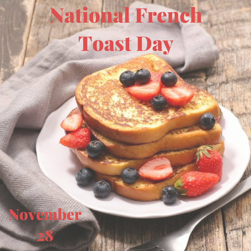 Today is National French Toast Day!  Treat yourself to some warm sweet french toast with fresh fruit, Yum!  Maybe even take a fun photo of your creation! #frenchtoast #foodphotography #nationalfrenchtoastday https://t.co/obcpcqZjwf