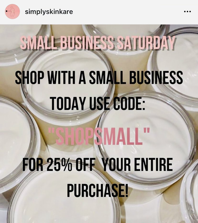 LOVE! hit up @simplyskinkare  #shopsmall #shopsmallbusinesses #ShopSmallSaturdaySale 💕🛍💝