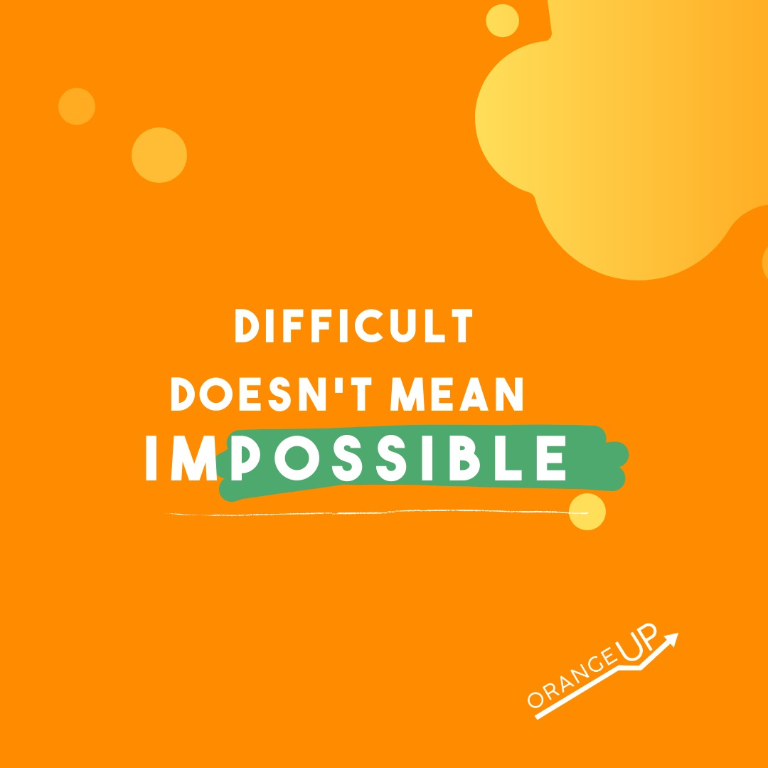 Difficult doesn't mean impossible. It just means you have to try harder. So don't feel defeated just find a different way and try again.  What was something that was difficult for you but you achieve in the end?  #Workharder #everythingispossible #tryharder