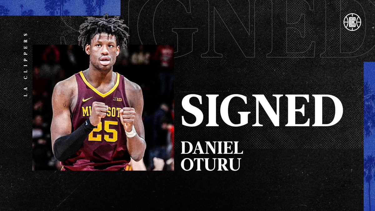 The team has signed 33rd overall pick @oturu65. https://t.co/CG10OWm01i