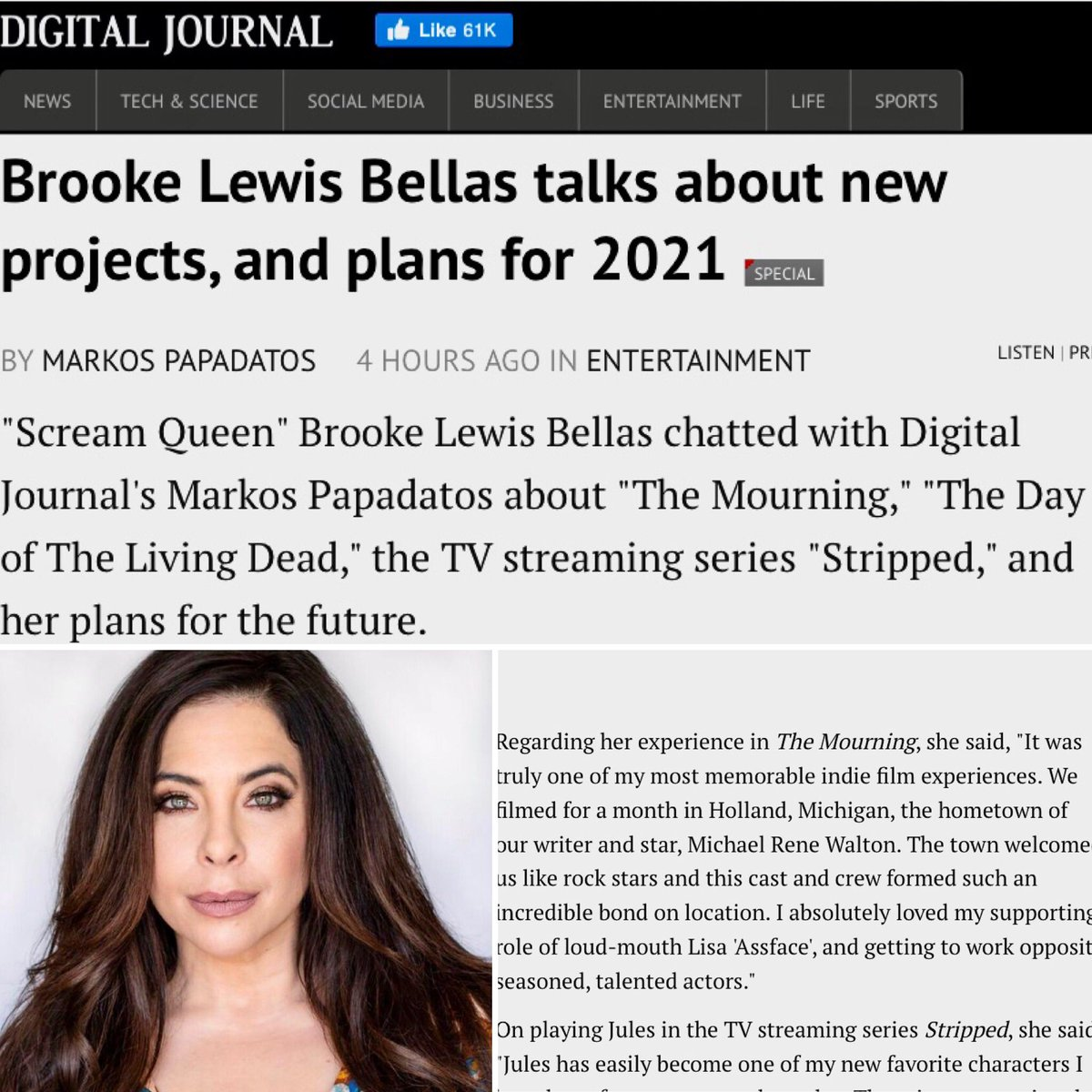 .@powerjournalist @digitaljournal #Thanksgiving & much to be #Thankful for & remaining #positive in #pandemic 🙏 Fantastic #interview from a #media team who has supported #actress #producer #life #BrookeLewisBellas for years❤️ What are you THANKFUL for?🙏 https://t.co/0OPW9Z1ptP https://t.co/OnFKemtjaG