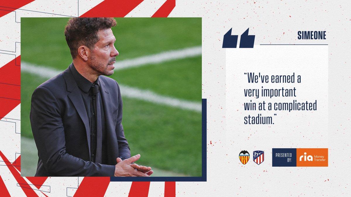 🎙 The boss' post-match thoughts... 💭  🔴⚪ #AúpaAtleti | ⚽ #ValenciaAtleti