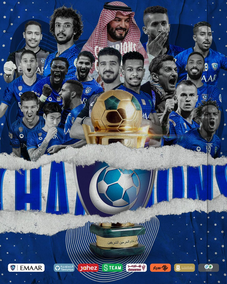 "#AlHilal is the champion of ""The Custodian of the Two Holy Mosques Cup"" 🇸🇦 Saudi #King_Cup 👏🏻🤩 Congratulations to the Leaders 💙6️⃣1️⃣🏆"