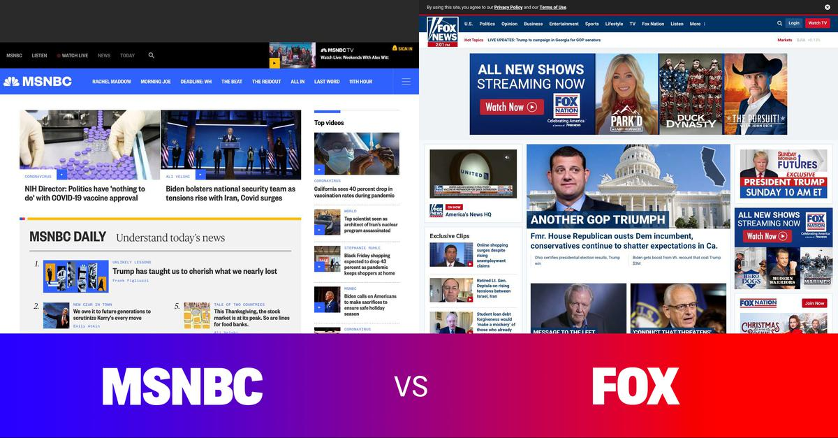 Side by side comparison of the news. Comment on overt bias or under-reporting. Share to support an informed democracy. #news #politics #media #msnbc #cnn #fox - More at: https://t.co/OCTLN0v95U https://t.co/DxBYHAs1PC
