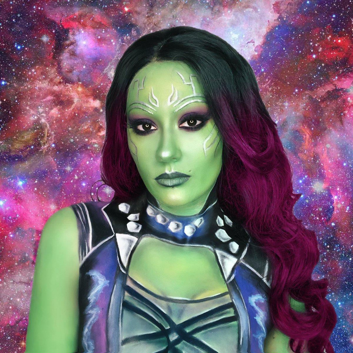 « You said it yourself bitch, we are the Guardians of the Galaxy. » - Star Lord. 🛸 #gamora #marvel #makeup #bodypaint #makeupartist #GuardiansoftheGalaxy #GOTG #MarvelsAvengers #avengers #nebula #groot @MarvelFR @Marvel @Guardians @DisneylandParis @DisneyPlusFR @DisneyFR