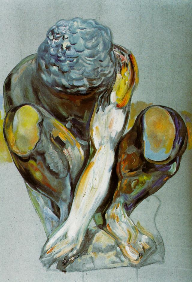 After Michelangelo's 'Squatting Child', 1982 #dali #spanishart