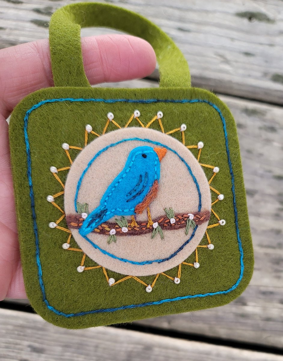 Newest ornament available     #SmallBusinessSaturday #shopsmall #bluebird #Ornaments