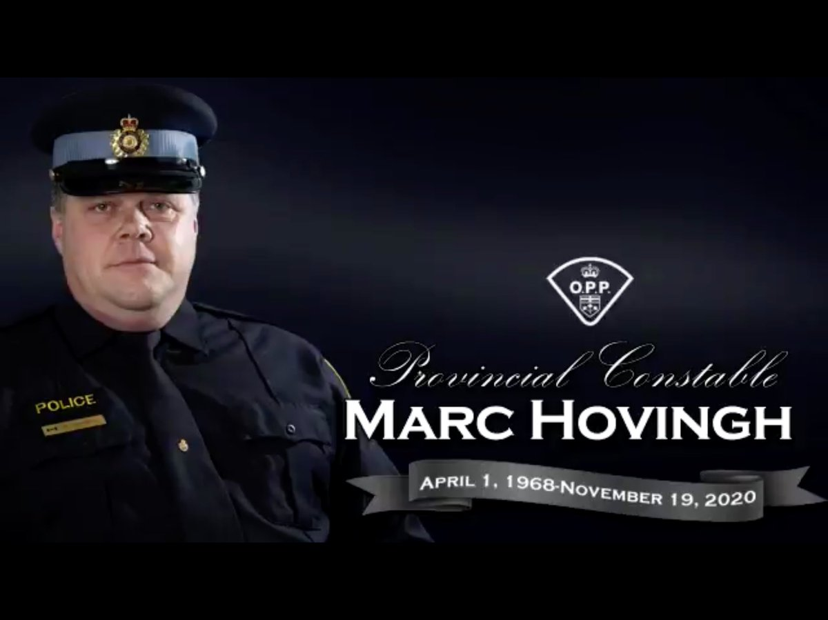 RIP Provincial Constable Marc Hovingh of the O.P.P. killed in the line of duty. Amazing show of love from all on Manitoulin Island and across Canada this week. https://t.co/p7LUrY8Mkq
